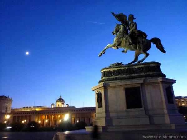 Виена Площада на героите вечерта Частни обиколки